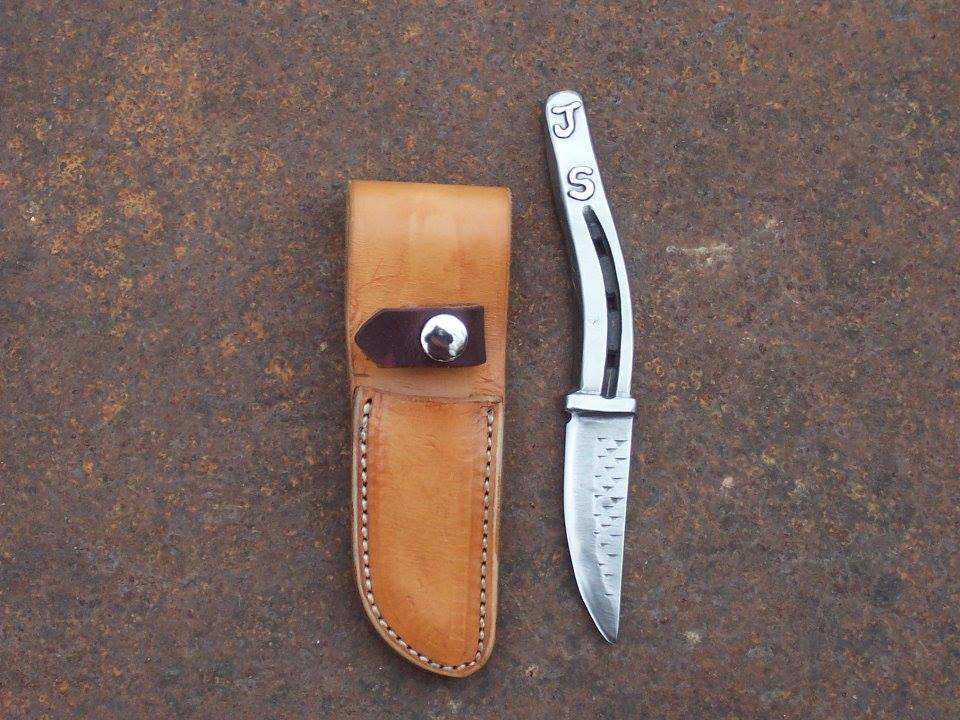 horse rasp knife with initials- unique gift