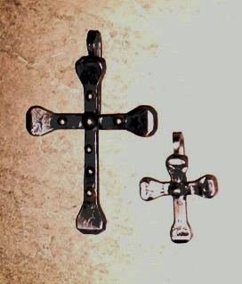 large and small cross pendant